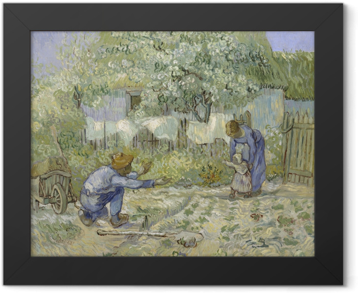 Vincent van Gogh - First steps Framed Poster - Reproductions