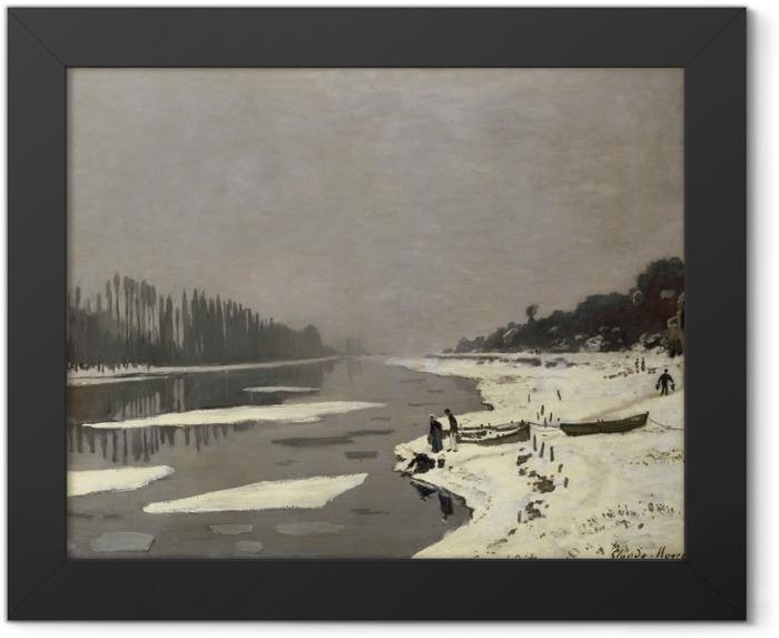 Plakat w ramie Claude Monet - Lód na Sekwanie w Bougival - Reprodukcje