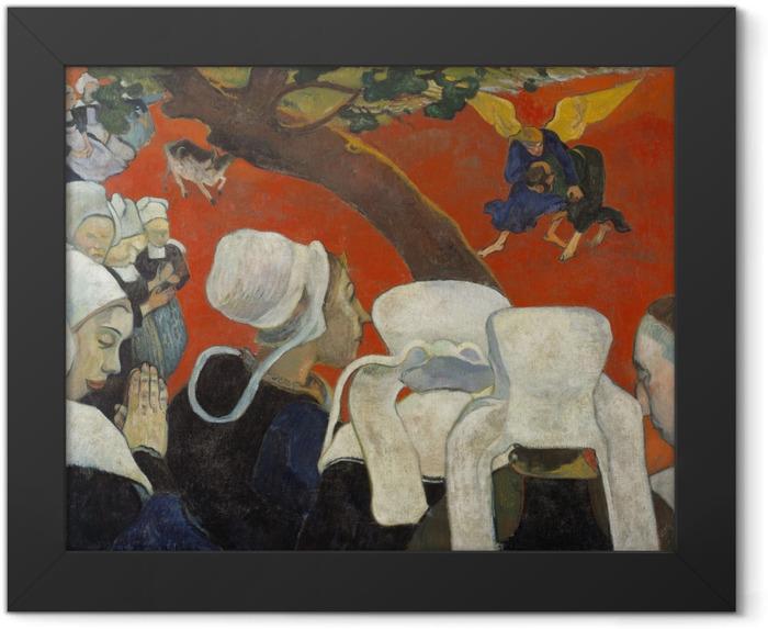 Plakat w ramie Paul Gauguin - Wizja po kazaniu - Reprodukcje