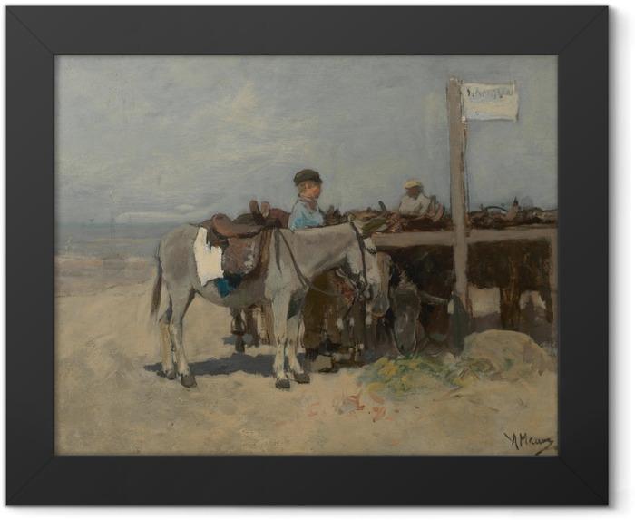 Poster en cadre Anton Mauve - Stand pour les ânes sur la plage de Scheveningen - Reproductions