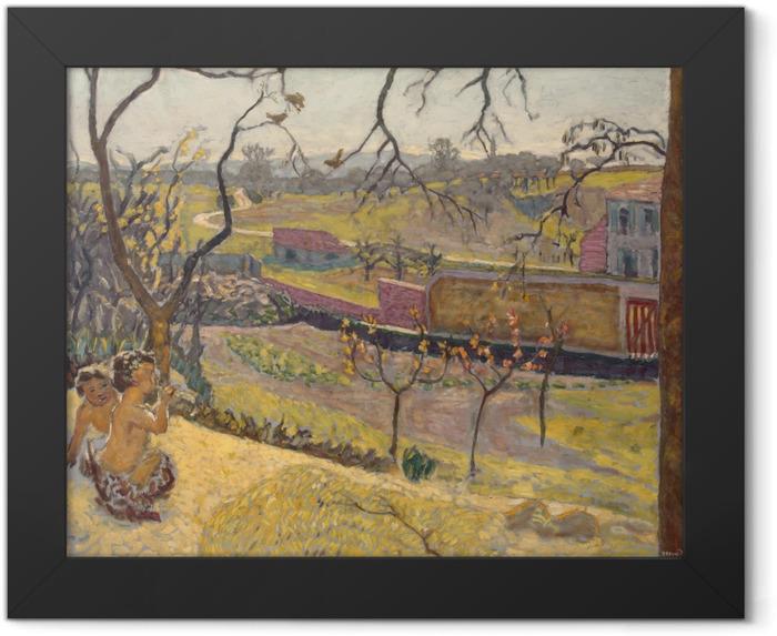 Poster en cadre Pierre Bonnard - Début du printemps. Petits Faunes - Reproductions