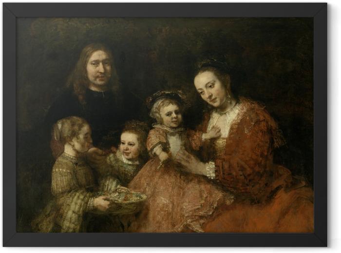 Gerahmtes Poster Rembrandt - Familienbildnis - Reproduktion