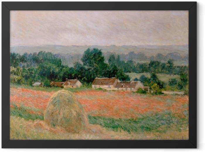 Plakat w ramie Claude Monet - Stóg siana w Giverny - Reprodukcje