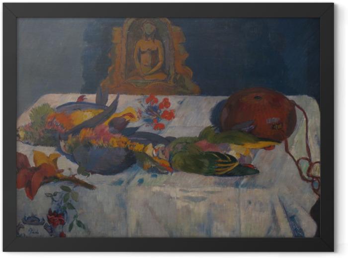 Poster en cadre Paul Gauguin - Nature morte avec perroquets - Reproductions