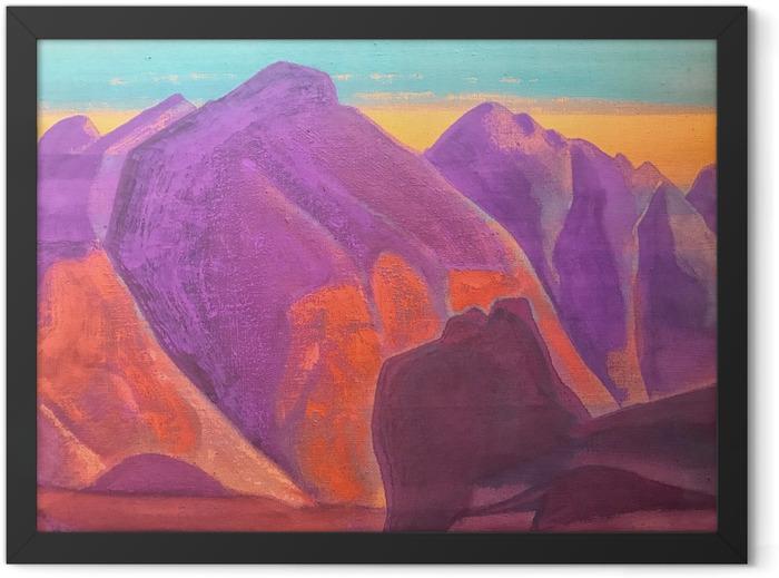 Plakat w ramie Nikołaj Roerich - Studium gór II - Nicholas Roerich