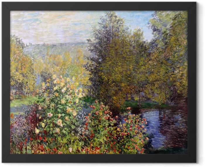 Gerahmtes Poster Claude Monet - Stiller Winkel im Garten von Montgeron - Reproduktion