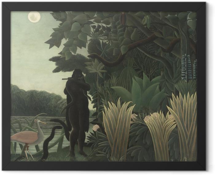 Gerahmtes Poster Henri Rousseau - Die Schlangenbeschwörerin - Reproduktion
