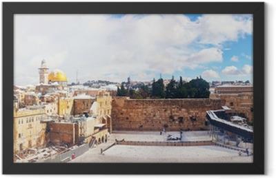 The Western Wall in Jerusalem, Israel Framed Poster