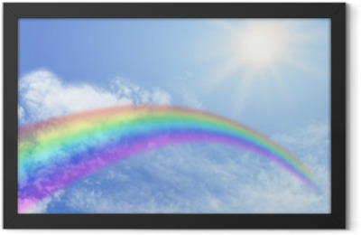 Rainbow Website Banner Header Framed Poster