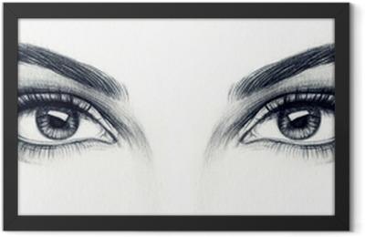 woman eyes Framed Poster