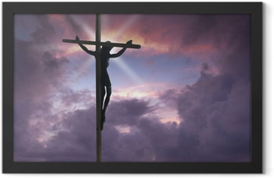 Jesus Christ on the Cross Framed Poster