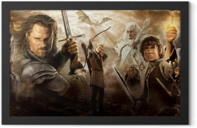 the Lord of the Rings Framed Poster