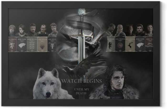 Game of Thrones Framed Poster - Themes