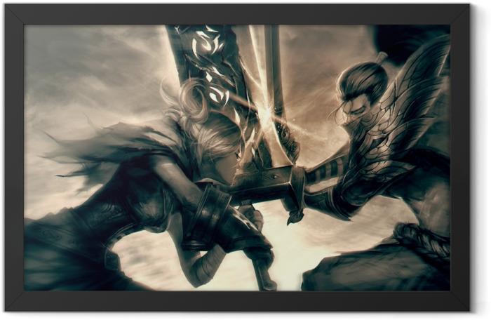 Plakat w ramie Yasuo - League of Legends - Tematy