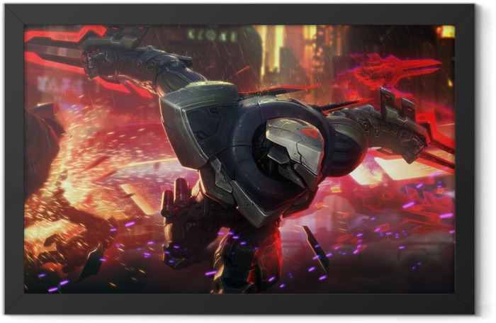 Zed - League of Legends Framed Poster - Themes