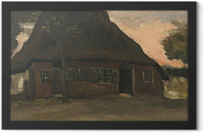 Gerahmtes Poster Vincent van Gogh - Bauernhaus in Nuenen - Reproductions