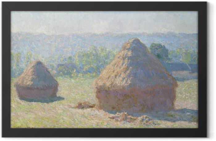Plakat w ramie Claude Monet - Stogi - Reprodukcje