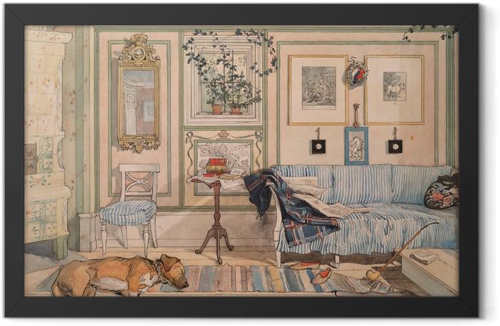 Plakat w ramie Carl Larsson - Przytulny kącik - Reproductions