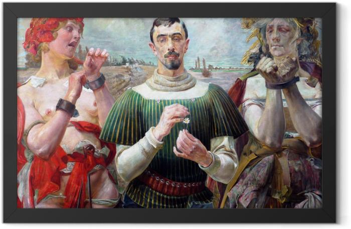 Poster en cadre Jacek Malczewski - Le Hamlet Polonais - Reproductions