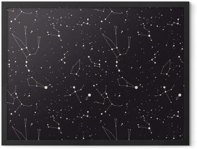 Star constellation vector Framed Poster