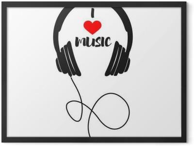 I love music Framed Poster
