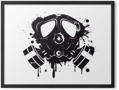 Gasmaske Graffiti Framed Poster