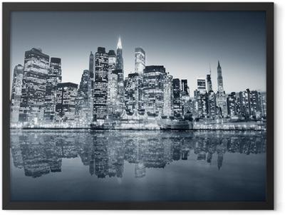 New York manhattan Framed Poster