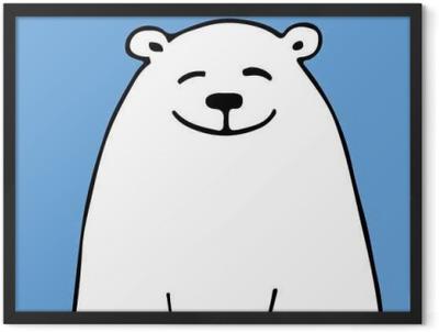White bear, sketch for your design Framed Poster