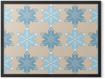 Seamless background with snowflakes. Print. Repeating background. Cloth design, wallpaper. Framed Poster