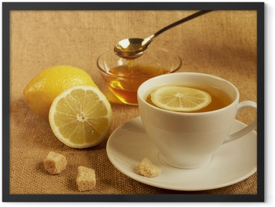 tea with lemon and honey Framed Poster