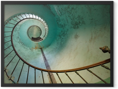 lighthouse staircase Framed Poster