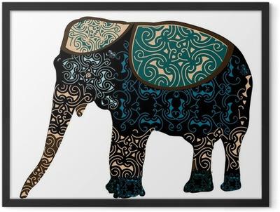 Indian elephant Framed Poster
