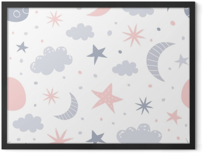nursery pattern Framed Poster