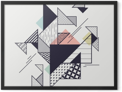 Abstract modern geometric composition Framed Poster