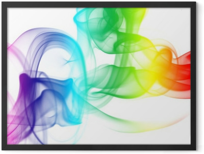 color smoke Framed Poster