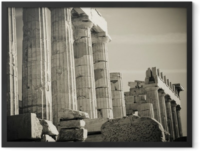 greek columns Framed Poster