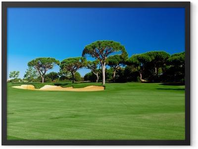 Golf Court Framed Poster