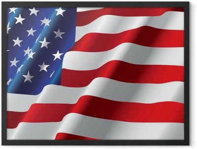 vector american flag Framed Poster