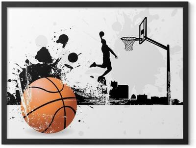 Basketball player Framed Poster