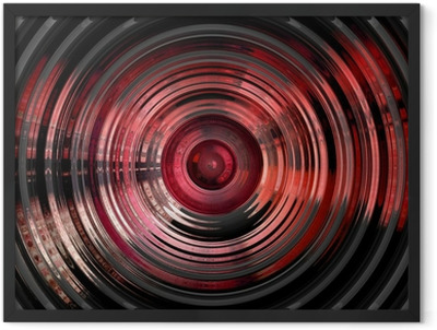 abstract hypnotic 3d background Framed Poster
