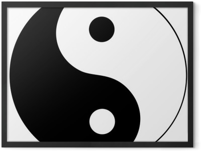 Ying yang symbol of harmony and balance Framed Poster