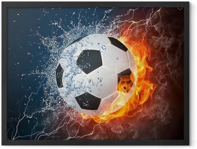 Soccer Ball Framed Poster
