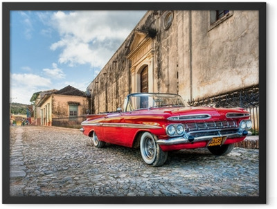 Red Chevrolet Framed Poster