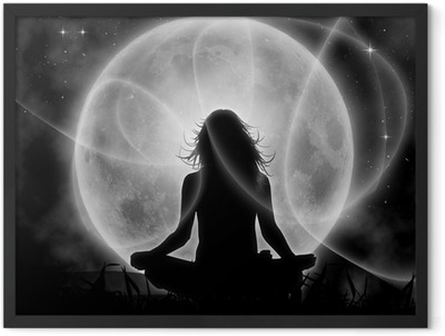 Moon meditation Framed Poster