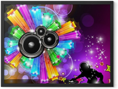 Music Disco Flyer for Dancing Events Framed Poster