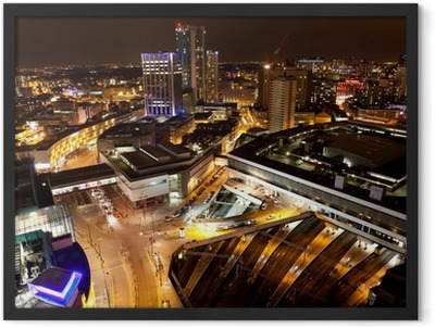 Birmingham City Centre at night Framed Poster