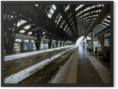 Milan station architecture Framed Poster