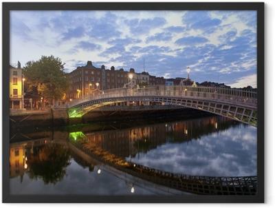 Ha' penny bridge Framed Poster