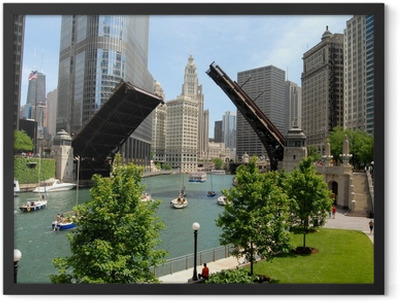 Downtown Chicago, Illinois Framed Poster