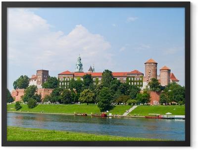 Royal castle at Wawel hill, Krakow, Poland Framed Poster